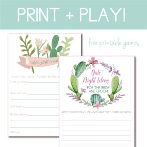 Download two free bridal shower games on the Journey Junkies page