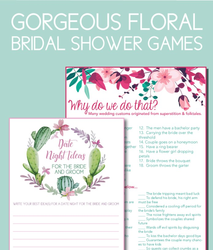 Floral Bridal Shower Games Perfect for Spring