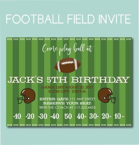 Football Field Invite
