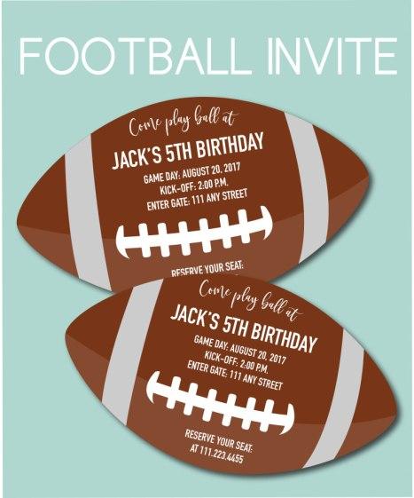 Football Shaped Invite