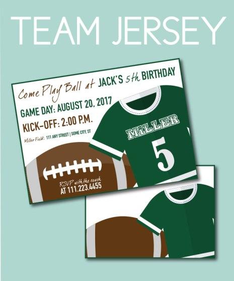 Football Jersey Invite