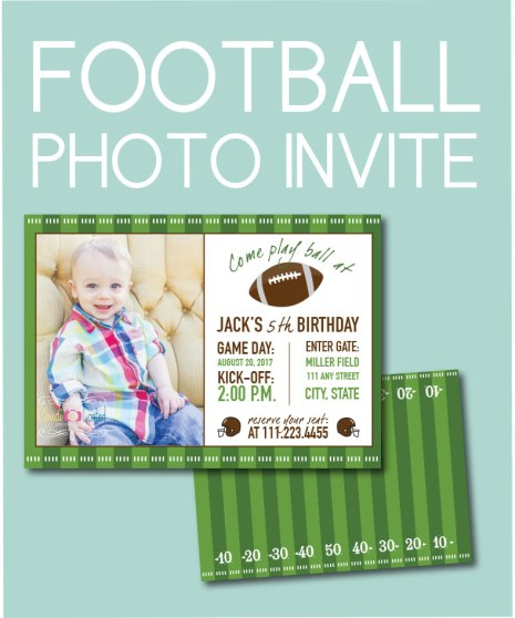 Football Photo Invite