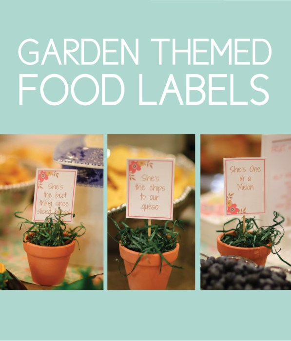 Garden themed food labels