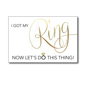 White and Gold Bridesmaid Card