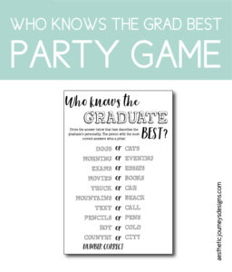 photo relating to Free Printable Graduation Party Games named Commencement Celebration Guidelines: 50 Totally free Printable Styles toward
