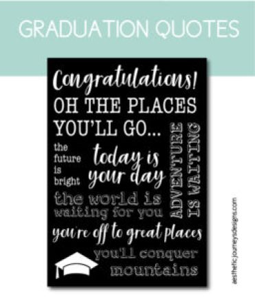Graduation Quote Signs