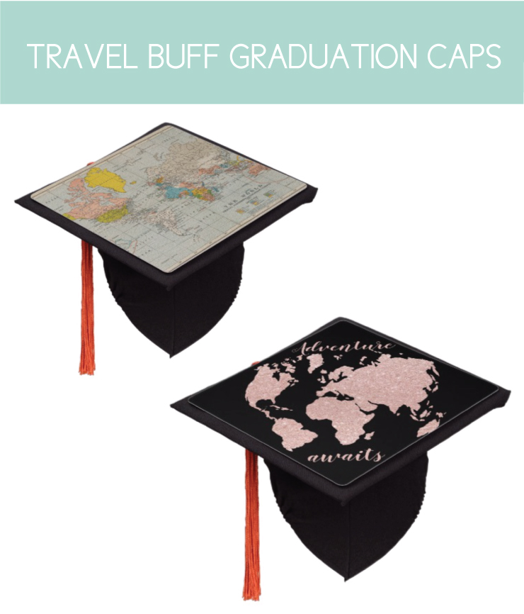 Travel Themed Graduation Caps