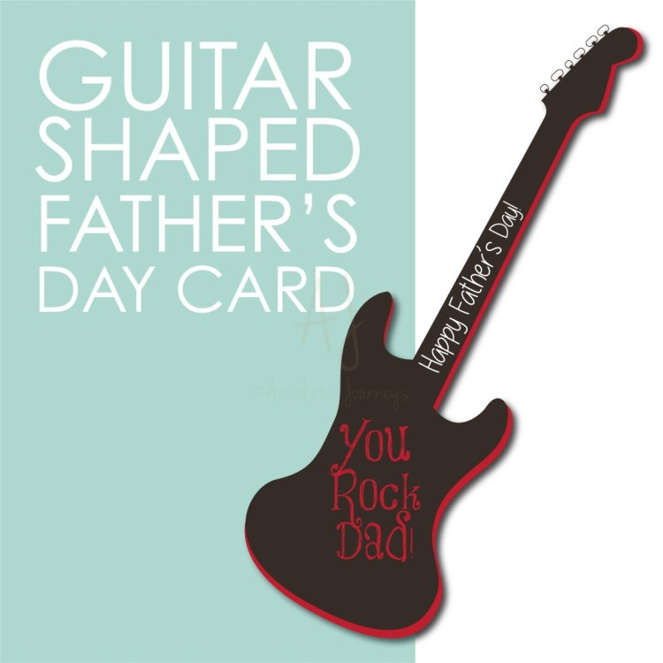 Guitar Shaped Card for Father's Day