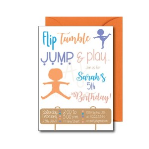 Gymnastics Party Invite