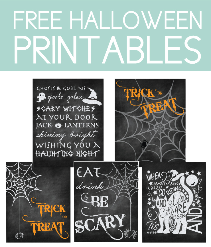 Download free Halloween Printables perfect for home decor