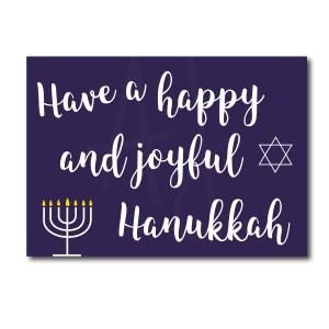Navy and White Hanukkah Card
