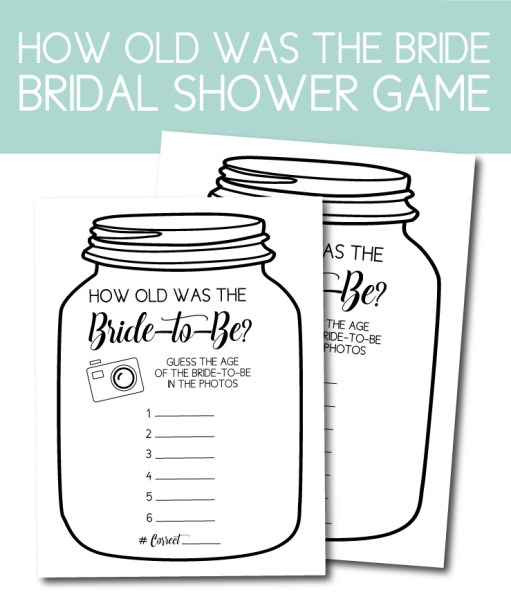 How Old Was the Bride Shower Game