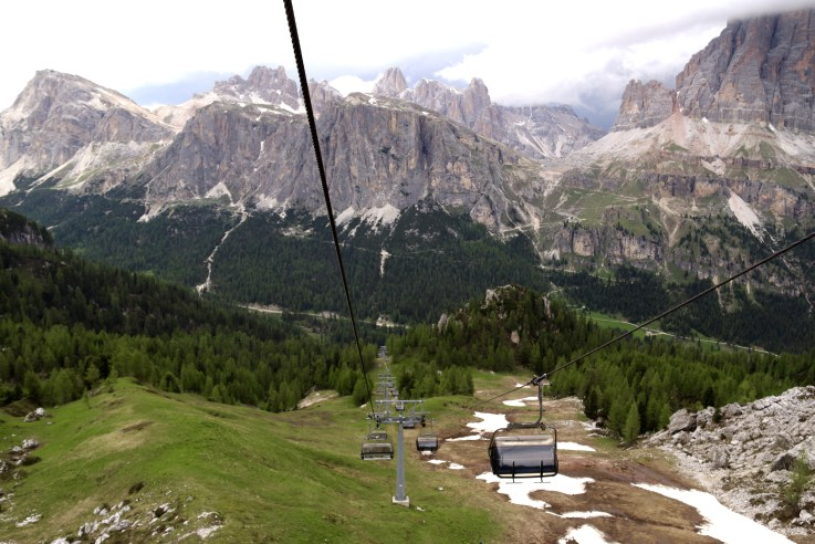 Take a Ride on One of the Ski Slopes in the Dolomite Mountains