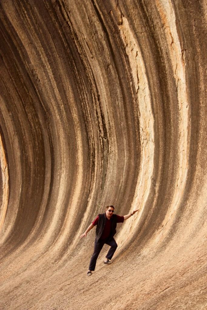 Surfing Wave Rock