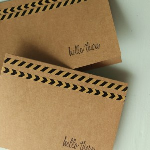 Black Rustic Hello There Cards