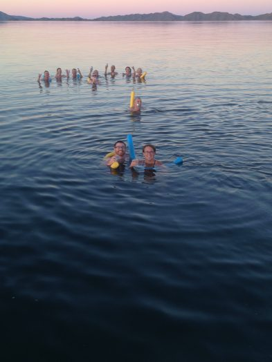 Swimming in Lake Argyle