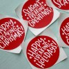 Funny Printed Christmas Stickers
