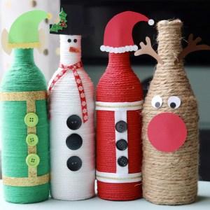 Christmas Character Bottles