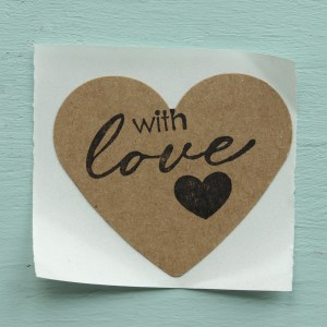Rustic With Love Stickers