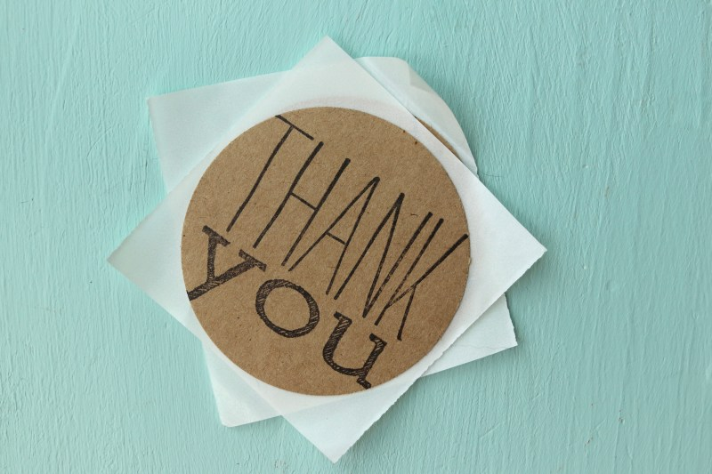 Circle Shaped Thank You Stickers