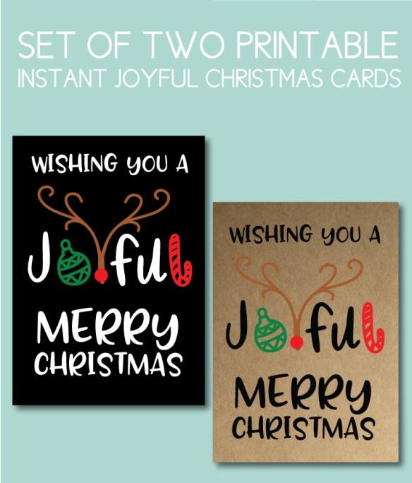 Joyful Merry Christmas Cards