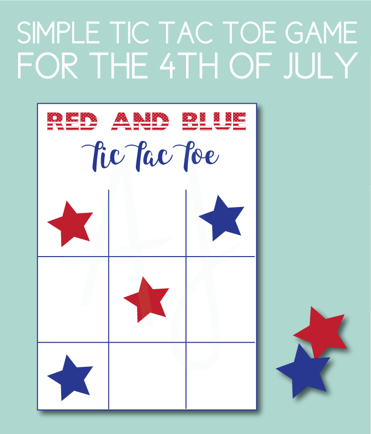 Tic Tac Toe Game for the 4th of July