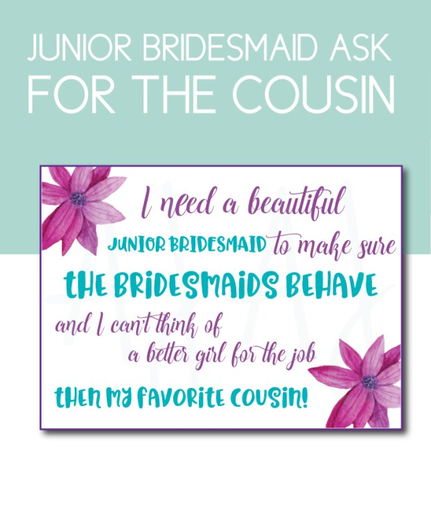 Favorite Cousin Bridesmaid Card