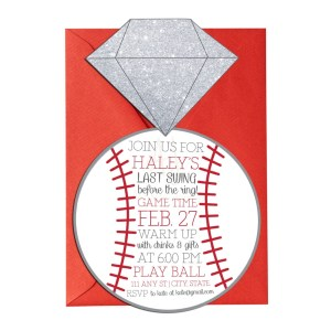 baseball themed bridal shower