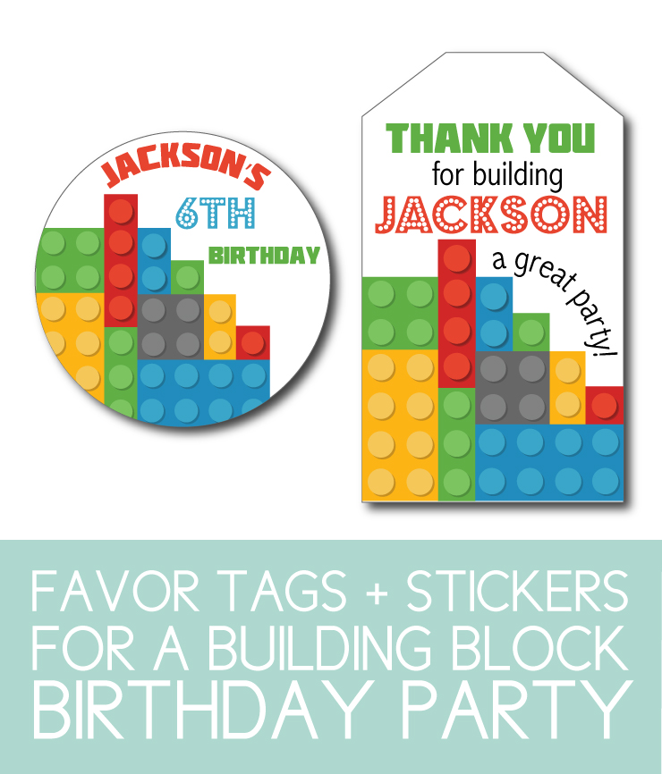 Stickers and Tags for party favors, thank you cards, and more.