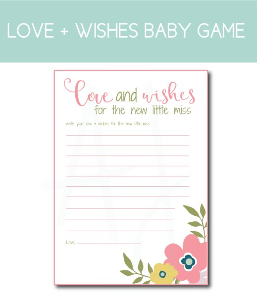 Spring Themed Love and Wishes Baby Game