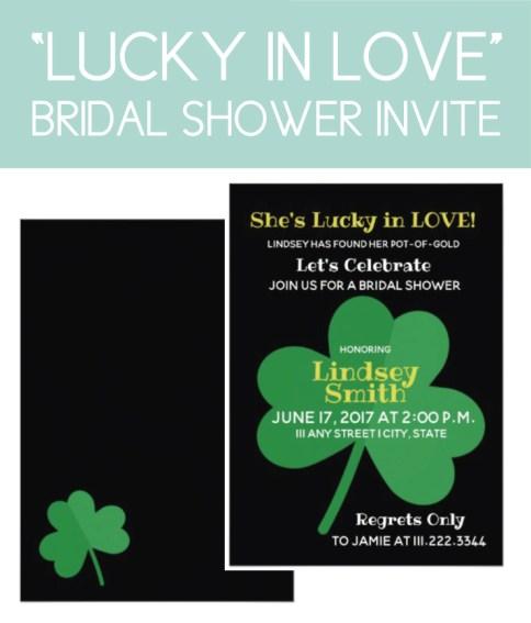 Lucky in Love Bridal Shower Invite