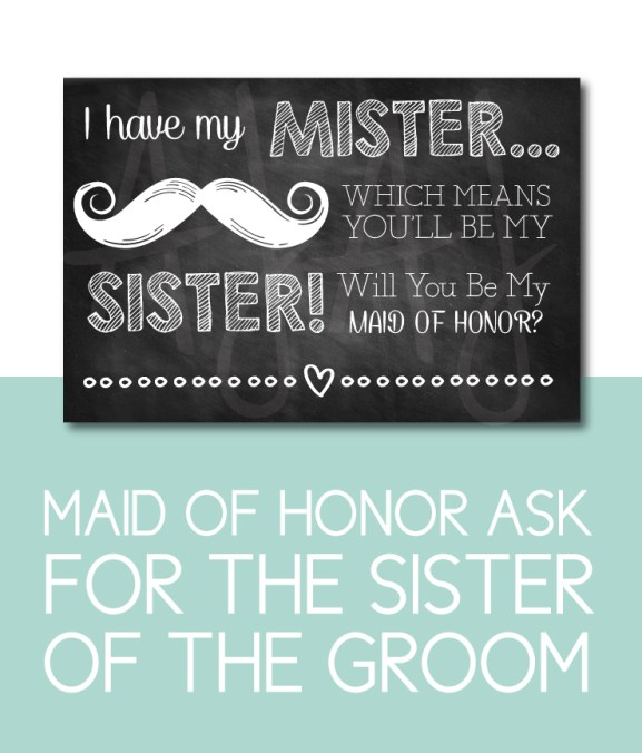 Maid of Honor Ask for the Sister of the Groom