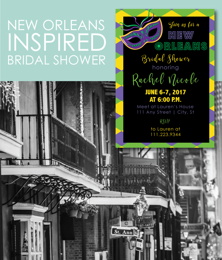 New Orleans Themed Bridal Shower