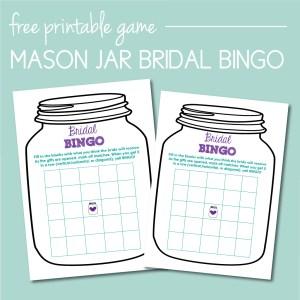 Free Mason Jar Bridal BINGO Game