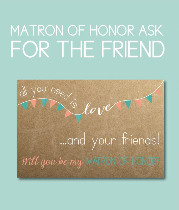 Matron of Honor Bridal Party Gift for the friend of the Bride