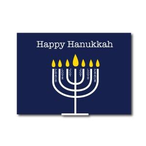 Happy Hanukkah Card with Menorah