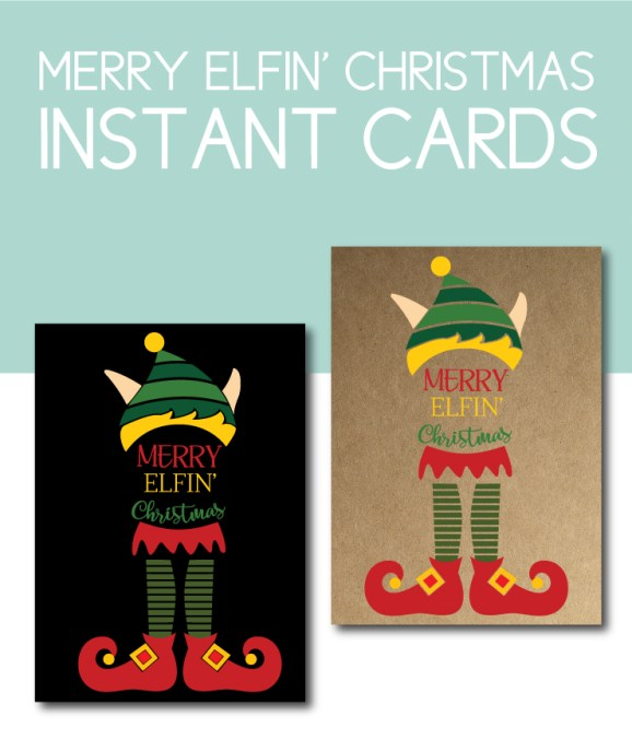 Merry Elfin' Christmas Cards