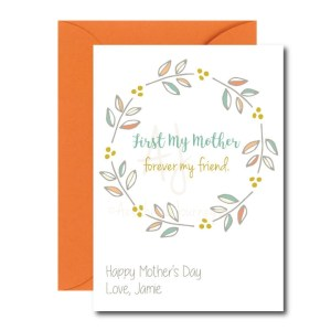 Friend Themed Card for Mom