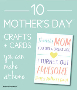 graphic relating to Free Printable Mothers Day Crafts identify Moms Working day Crafts and Playing cards: 10 Recommendations By yourself Can Produce at Residence