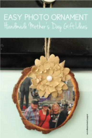 Easy Handmade Photo Ornament