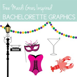 Download free Mardi Gras Themed Bachelorette graphics on the Journey Junkies page.