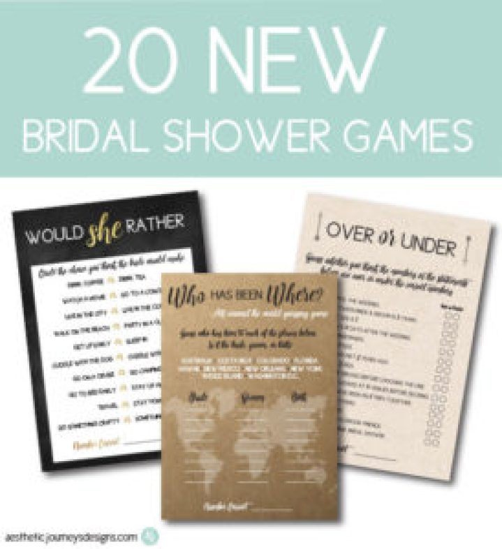 New Bridal Shower Games