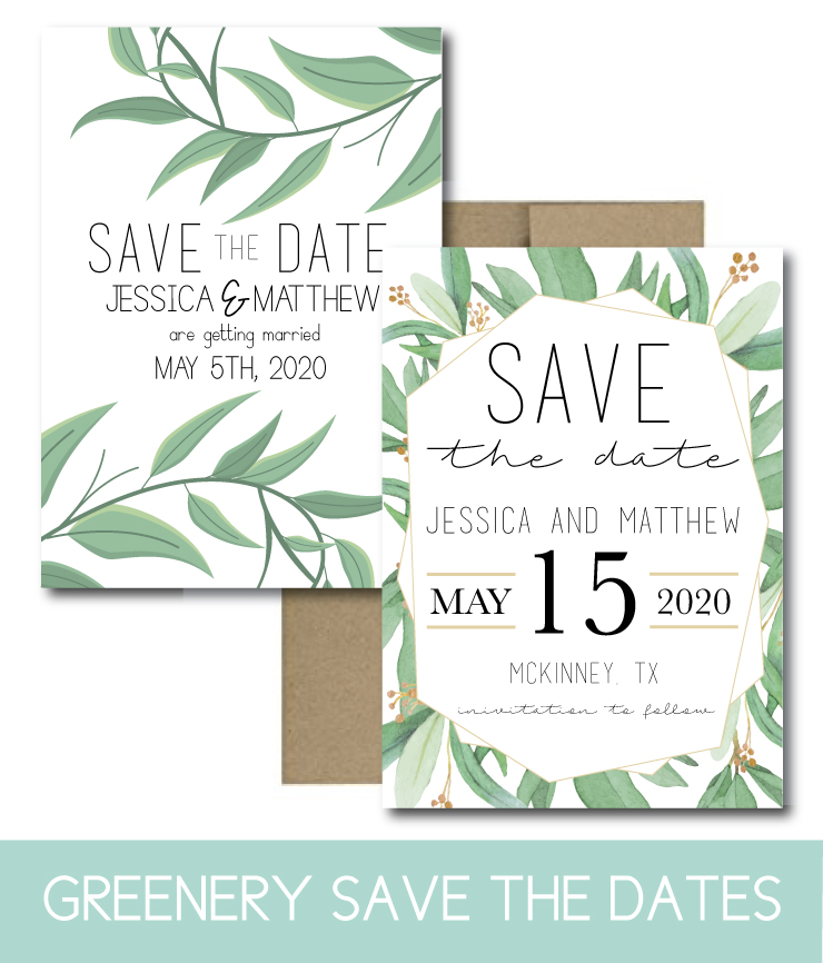 Greenery Save the Dates