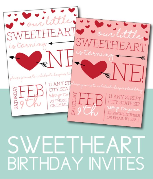 Little Sweetheart Birthday Invites