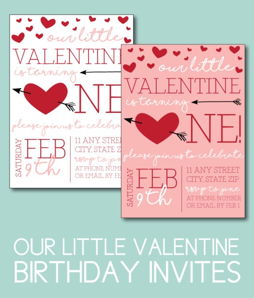 Our Little Valentine Birthday Invites