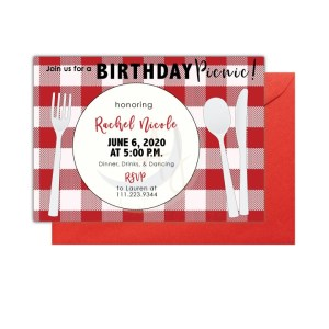 Picnic Themed Party Invite