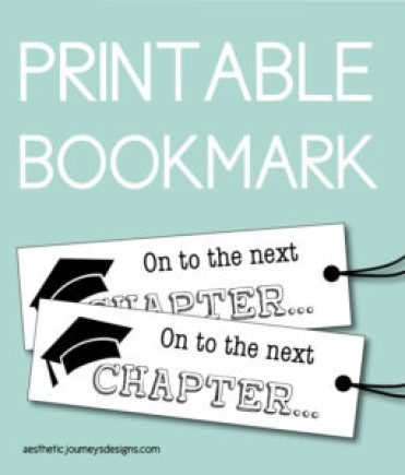 Printable Bookmark for the Graduates Next Chapter