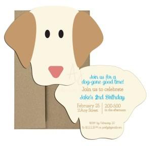 Puppy party invite