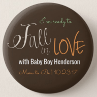 Fall Baby Shower Badge