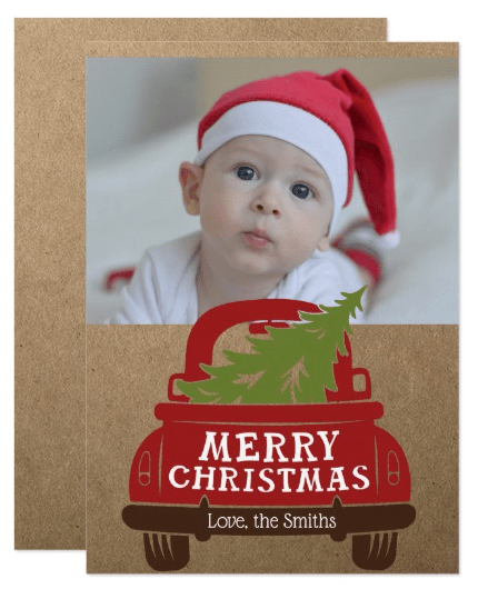 Farmhouse Truck Merry Christmas Card
